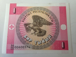 Billete Kirguistan. 1 Tyin. 1993. Sin Circular. Águila - Kirguistán