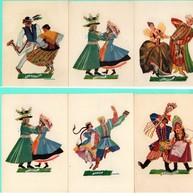 6 CP-POLOGNE- Costumes Danses Folkloriques-( Galeria Polska Krakow ) - Pologne