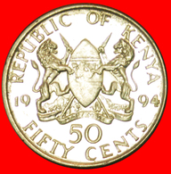 # COCK: KENYA ★ 50 CENTS 1994 YEAR=TYPE MINT LUSTER! LOW START ★ NO RESERVE! - Kenya