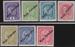 Polen   .  Yvert    7  Marken       . *   .   Ungebraucht Mit Gummi Und Falz  .   /  .   Mint Hinged - 1919-1939 Republic