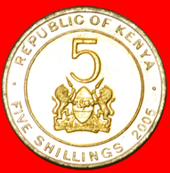 # COCK (2005-2009): KENYA ★ 5 SHILLINGS 2005 MINT LUSTER! LOW START ★ NO RESERVE! Mzee Jomo Kenyatta (1964-1978) - Kenya