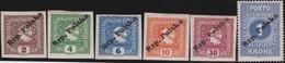 Polen   .  Yvert    139/145        . *   .   Ungebraucht Mit Gummi Und Falz  .   /  .   Mint Hinged - 1919-1939 Republic