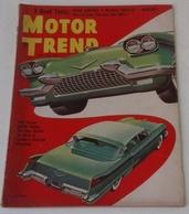Revue Vintage Automobile Américaine Motor Trend Avril 1955 Marmon Masterpiece Voitures Du Future Cadillac De Soto Buick - Autres