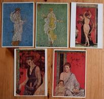 Peintures Antiques - 5 CPM - Pittura Romana (2) Musoe Nazionale, Napoli - Pompei - Villa Dei Misteri (3) - (n°13798) - Peintures & Tableaux