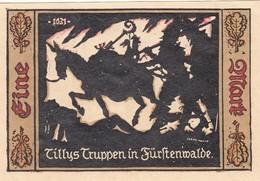 Billet Allemand - 1 Mark  - Fürstenwalde An Der Spree 1921 - [11] Emissions Locales