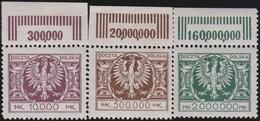 Polen   .  Yvert    3  Marken       .    *   .   Ungebraucht Mit Gummi Und Falz  .   /  .   Mint Hinged - 1919-1939 Republic
