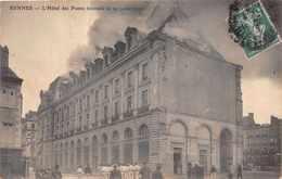 RENNES -  Hotel Des Postes Incendie Le 29 Juillet 1911 (edts ELD ) - Rennes