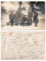 (Guerre 1914-18) 119, Carte Photo, 55e RIT Régiment D'Infanterie Territorial, Bonne Année 1915, Brassard B6 GVC 42 Garde - Guerre 1914-18