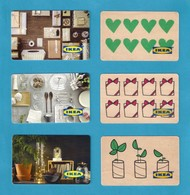 6 Carte Cadeau.   IKEA.   Gift Card. - Cartes Cadeaux