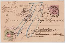 "1885, 10 C. "" APPENZELL ""  , # A1650 - Poststempel"