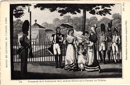 Thematiques Representation Mœurs Et Coutumes Du Vieux Paris Duchesse De Berry Sur Tuileries N° 569 - Parques, Jardines