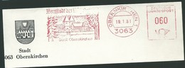 EMA AFS METER STAMP FREISTEMPEL - Germany Obernkirchen 1981 Traditional German Architecture Houses Buildings - Other