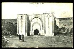 """RABAT - Bab El Alu - (Beau Plan Animé Avec Cachet Rond """"CAMPAGNE DU MAROC - 1912-1913""""- Frappe Faible) - Rabat"""
