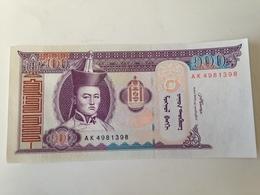Billete Mongolia. 100 Tugrik. 2008. Sin Circular - Mongolia