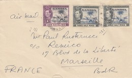COVER. GAMBIA. 1 3 51. BATHURST TO MARSEILLE FRANCE - Briefmarken
