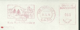 EMA AFS METER STAMP FREISTEMPEL - Germany Bad Hersfeld 1979 Traditional German Architecture Houses Buildings Churchs - Churches & Cathedrals