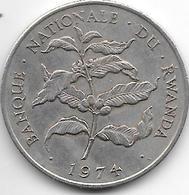 Rwanda 10 Francs 1974  Km14.1   Vf+ - Rwanda