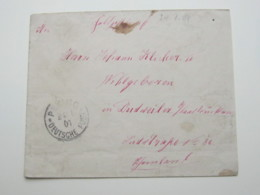 CHINA ,  Feldpostbrief 1901 Aus Peking - Offices: China