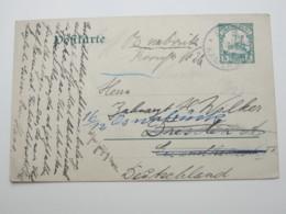 KAMERUN  ,  Ganzsache  1911   Aus  EDEA   , Rs. Viel Text - Kolonie: Kamerun