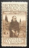 1926 7° Centenario Della Morte Di San Franesco Sassone N°197 Nuovo ** COD FRA.1164 - Nuovi