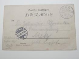 DSW ,  Feldpostkarte Aus KUB  1906 - Colony: German South West Africa