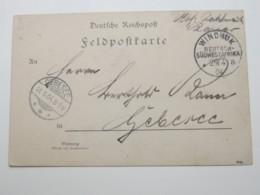 DSW ,  Feldpostkarte Aus Windhuk  1904 - Colony: German South West Africa
