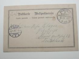 1900 ,  Stempel Marinepostbüro Berlin,  Feldpostkarte Boxeraufstand , Sehr Selten - Offices: China