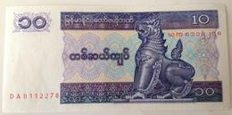 Billete Birmania Myammar. 10 Kyats. 1996. Sin Circular - Myanmar