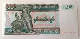 Billete Birmania Myammar. 20 Kyats. 1994. Sin Circular - Myanmar