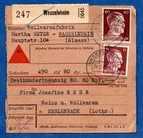 Colis Postal  -  Départ Wasselnheim   - 24/06/43 - Germany