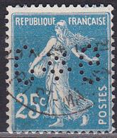 Perforé Perfin Lochung - N°Y&T 140 - C*G 137 - Manufacture De Bretelles Ch. Guyot - France