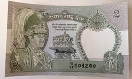 Billete Nepal. 2 Rupias. 1981. Firma 12. Sin Circular. Leopardo - Nepal