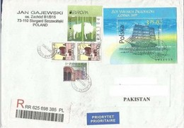 POLAND POSTAL REGISTERED USED AIRMAIL COVER TO PAKISTAN - Ohne Zuordnung