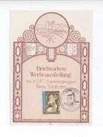 1942 3. Reich Gedenkblatt Der KdF Sammlergruppen Sonthofen Mit Abbildung Der Ordensburg Mi 821 SST - Briefe U. Dokumente