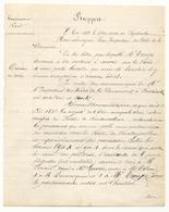 Rapport De L'inspecteur Des Forêts - Fontainebleau - 1868 - Document Manuscrit 1 Feuille Recto Verso - Documents Historiques