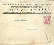 CARTA COMERCIAL 1935 GIRONA - 1931-Hoy: 2ª República - ... Juan Carlos I