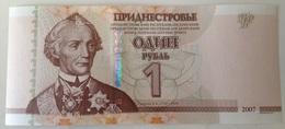 Billete Transnistria. 1 Rublo. 2007. Sin Circular - Billetes