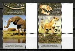 Israel 2018 / Archeology Lion Elephant MNH Mamíferos Arqueología Säugetiere / Cu10222  30 - Sellos