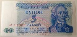 Billete Transnistria. 5 Rublos. 1994. Sin Circular - Billetes
