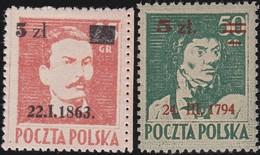 Polen   .  Yvert   437/438       .    *      .   Ungebraucht Mit Gummi Und Falz  .   /  .   Mint Hinged - 1944-.... Republic