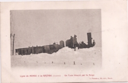 CPA - Ligne De Mende à La Bastide - Un Train  Bloqué Par La Neige - Mende