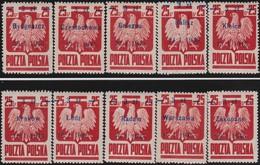 Polen   .  Yvert   10  Marken       .    *      .   Ungebraucht Mit Gummi Und Falz  .   /  .   Mint Hinged - 1944-.... Republic