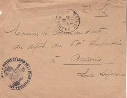 ORTHEZ (Bsses Pyrénées) : Lettre En FM Acvec Cachet Du *Service De Santé De La Place D'Orthez* - Guerre De 1914-18