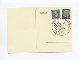 1938 Sudetenland Reichenberg Maffersdorf Blankokarte Frankatur 50 H Benes Mit Handstempel Michelnummer 22 - Sudetenland
