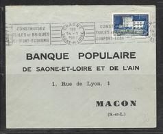 LOT 1812096 - N° 995 SUR LETTRE DE CHAGNY DU 14/01/57 POUR MACON - FLAMME - 1921-1960: Modern Period