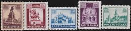 Polen   .  Yvert   442/446       .    *      .   Ungebraucht Mit Gummi Und Falz  .   /  .   Mint Hinged - 1944-.... Republic