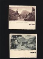 Samoens Haute-Savoie - 3 Cartes-Menu - Les Environs : Sixt, Le Criou, Le Fer à Cheval - Menu