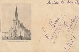 CPA 59 (Nord) TOURCOIN / L'EGLISE ST CHRISTOPHE  AVANT 1895 / ANIMEE / PRECURSEUR - Tourcoing