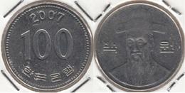 Corea Del Sud 100 Won 2007 (large Bust) KM#35.2 - Used - Corée Du Sud