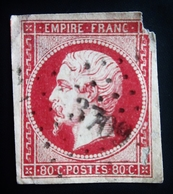 1854 France Yt 17A . Empire Français Louis Napoleon . Oblitéré GC 3709 Villefranche-de-Lonchat Dordogne - 1853-1860 Napoléon III